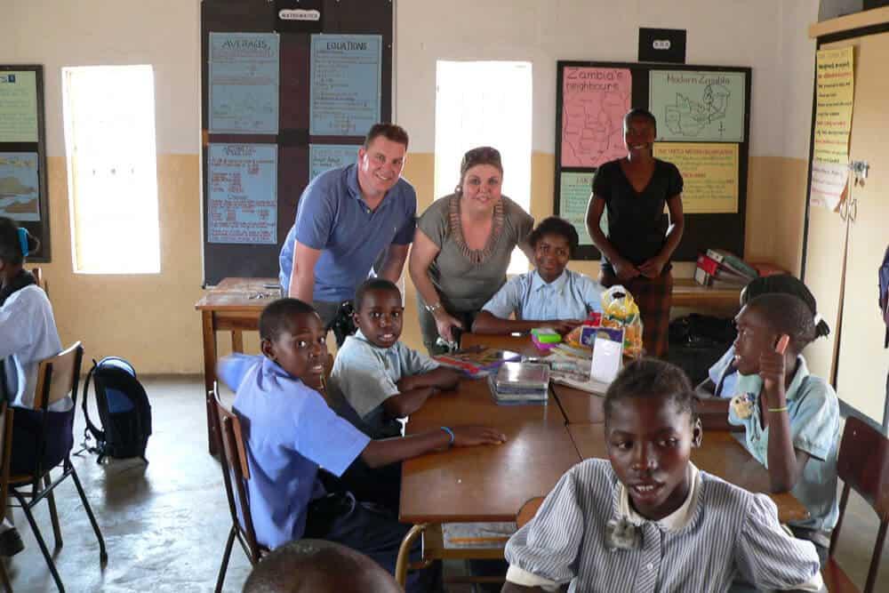 Luxury volunteering trip teaching Zambia