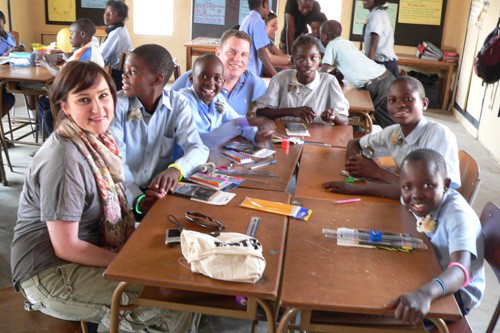 Meaningful luxury vacation teaching in Zambia