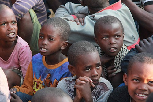Luxury voluntourism kids image in Rwanda