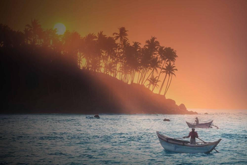 Family bonding vacation sunset Sri-lanka